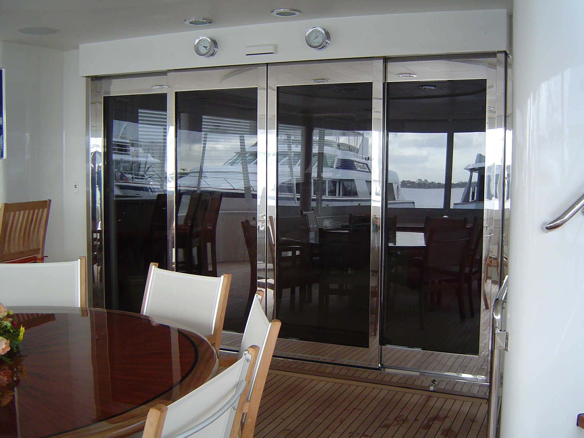 Stainless Steel Auto Door & Motor Yacht Automatic Doors - Dash Door Pezcame.Com