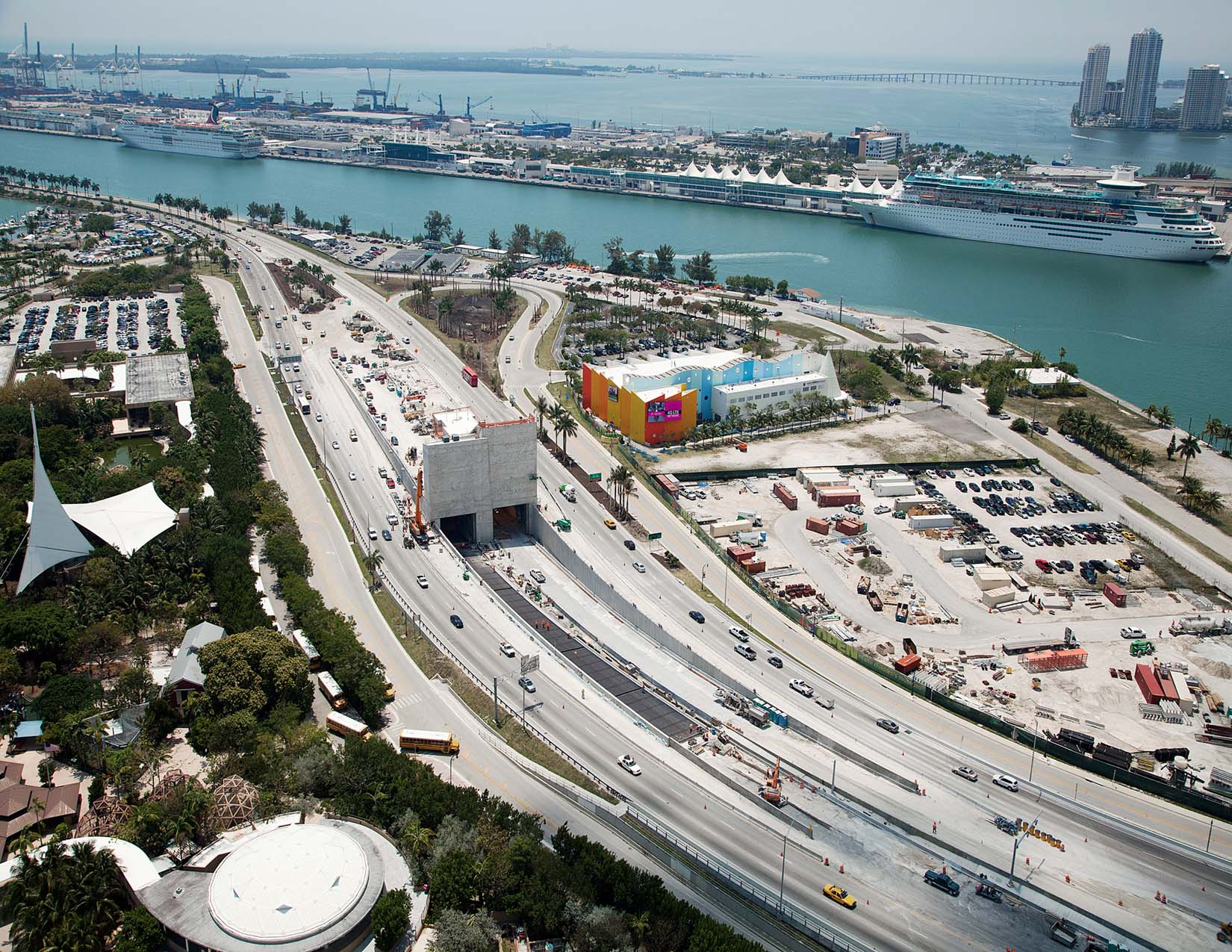 Port of Miami Tunnel - Aerial