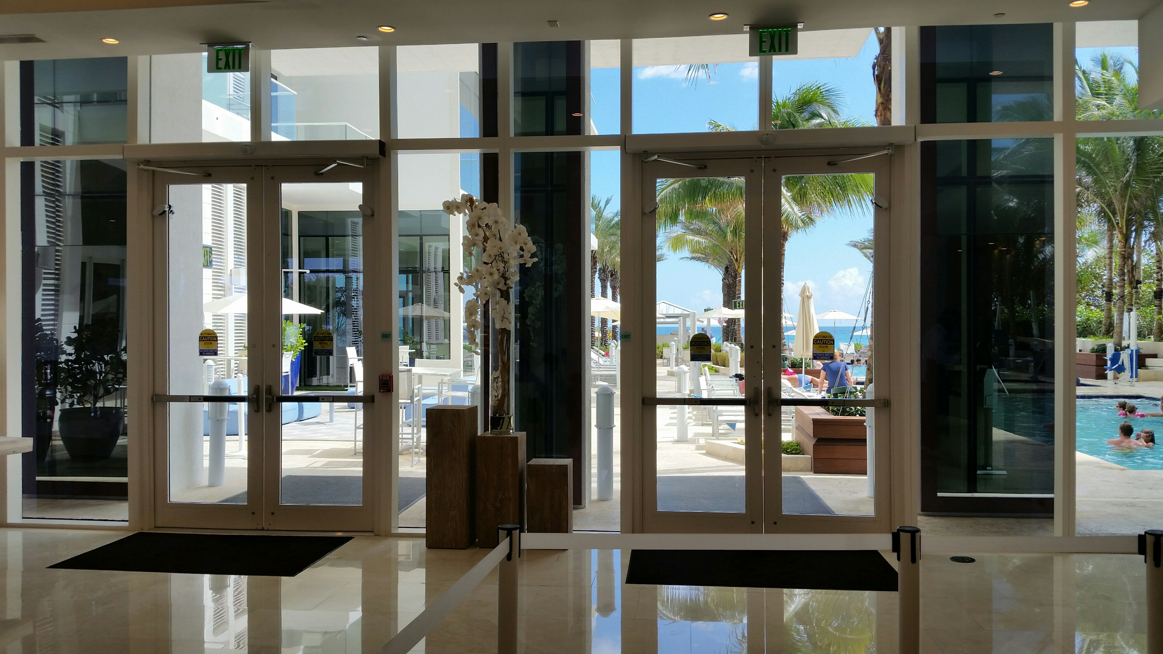 Grand Beach Hotel Automatic Swinging Doors Dash Door
