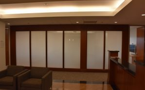 Switchable Glass Banking Office - PrivacyVue Off